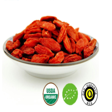 New crop Dried Organic Low residues Goji /wolfberry