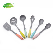 Big Discount for Nylon Kitchen Utensils,Kitchen Tools,Nylon Kitchen Tools Set Manufacturer in China Marble Grain Nylon Tools With Colorful TPR Handle supply to Armenia Manufacturer