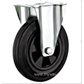 125 mm  European industrial rubber rigird  casters without  brakes