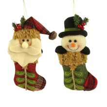 China for Glass Christmas Ornaments Christmas 3D santa claus and snowman ornaments decorations supply to Germany Manufacturers
