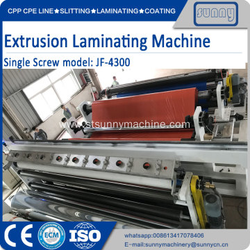 High Quality Industrial Factory for Fabric Extrusion Coating Machine Extrusion Coating Laminating Machine single T-Die System export to Spain Manufacturer