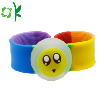 Cute Silicone Slap Bracelet Layer Wristband with Tag