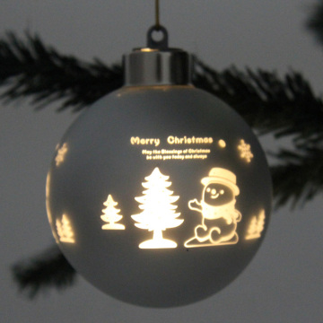 Laser Cut Customized Weihnachten LED Glaskugel Ornament