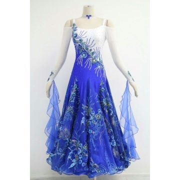 China for Ladies Ballroom Prom Dress Blue ballroom dresses for rent supply to Saudi Arabia Importers