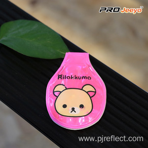 Reflective Pink Bear Led Magnetic Clip