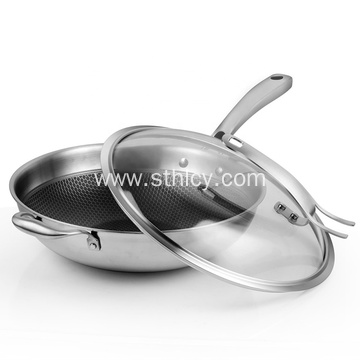 304 Stainless Steel Handle Pans With Cover