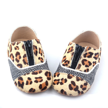 Leopard Soft Sole Leather Shoes Baby Footwear