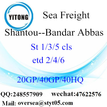Shantou Port Sea Freight Shipping To Bandar Abbas