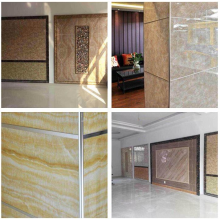 High reputation for Pvc Shower Wall Marble Panel Imitation artificial Pvc marble Board supply to Montenegro Supplier