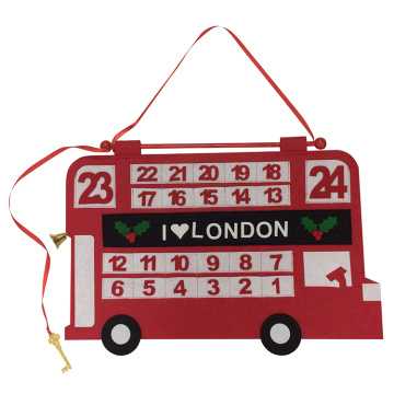 Christmas countdown advent calendar with car shape