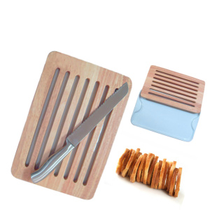Wooden cutting board manual bakery bread slicer