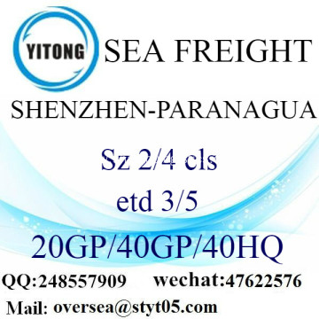 Shenzhen Port Sea Freight Shipping To Paranagua
