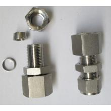 Metal Tube straight Bulkhead Ferrule Union