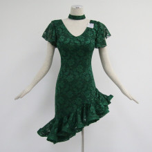 Fast Delivery for Girls Latin Dress Green latin dance dress supply to Dominica Importers