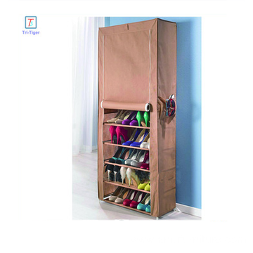 Portable Shoe Rack 9 Layers Shelf Storage Closet Organizer Cabinet with Cover