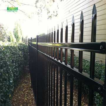 Anti Rust PVC Coated Galvanized Wall Boundary Steel Fence Design