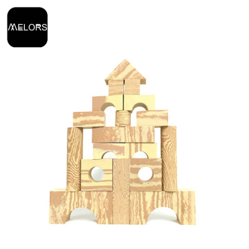 Melors EVA Educational Kids Foam Wooden Building Blocks