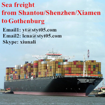 Shantou ocean freight from Shantou to Gothenburg