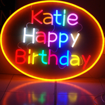 BIRTHDAY BOARD LED NEON LITTERS