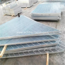 Customized for Steel Grating,Stainless Steel Grating,Galvanized Steel Grating Manufacturers and Suppliers in China Silver Galvanized Steel Bar Grating Floor/ Platform supply to Japan Suppliers