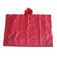 Reusable Red Nylon Rain Poncho