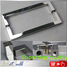 Stainless Steel Square Tube Glass Door Pull Handle