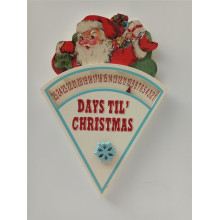 Bottom price for Christmas Wooden Hanging Home Decoration Wooden Christmas Calendar Hanging supply to Andorra Factory