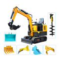 1.8t 1.0t menggali mesin harga mini excavator towable