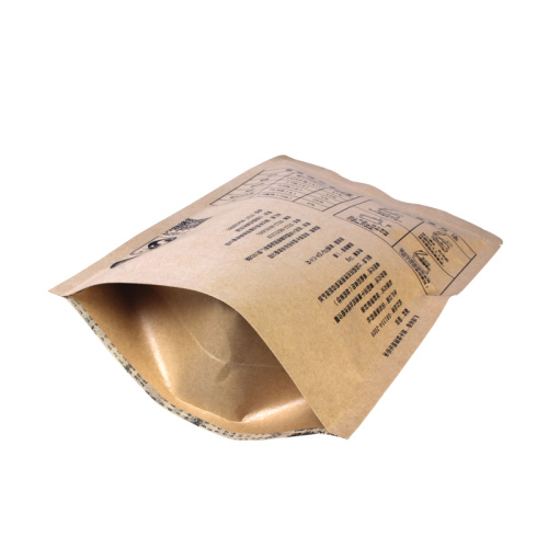 Foil Zipper Stand-up Kraft Pouch for Rice