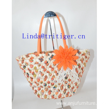 Eco-friendly Straw Willow Weave Purse Handbag