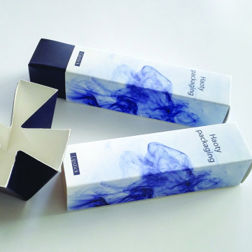 Blue luxury paper lipstick packaging box