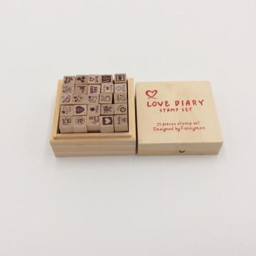 customized wooden ink stamp