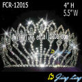 Full Round Rhinestone Patriotic Pageant Crowns