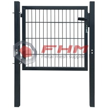 Bottom price for Metal Garden Gates Welded Wire Mesh Round Tube Frame With Lock supply to India Wholesale