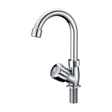 Polished Goose Neck Basin Kitchen Tap Faucet