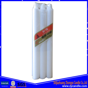 6Pcs Cellophane Package Wax White Candle