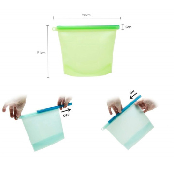 Reusable Silicone Leakproof Microwave Safe Food Storage Bag