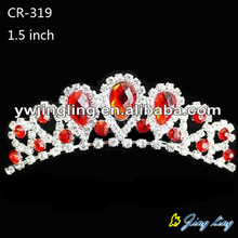 Custom Red Rhinestone Wedding Headband