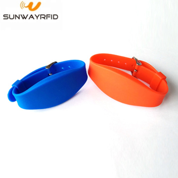 Customized Pure Color 13.56mhz Proximity RFID Wristband