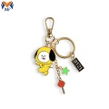 Metal custom bts friendship keychain