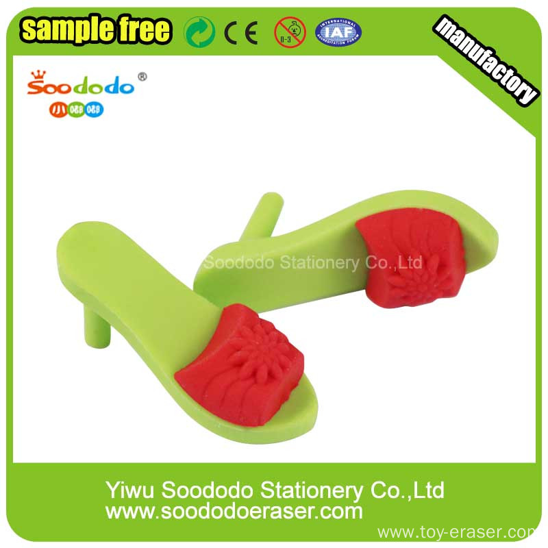 3D Fashion High-heeled sandals Eraser for promotional gift