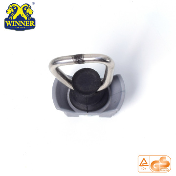 Stainless Steel D Ring Plastic Base Single Stud Fitting
