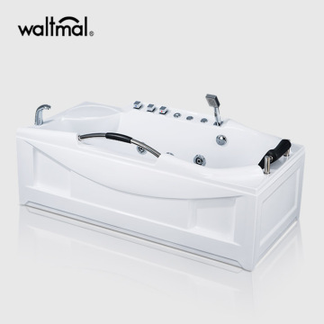 EverClean Corner Whirlpool Tub with Deck