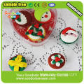 PVC Packing Delicous Christmas Gift Cake Shaped Eraser