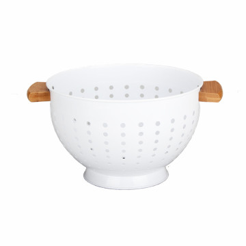 Household Kitchen Aid Colander-Wooden Handle