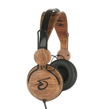 Reka bentuk baru Customized logo Headphone kayu