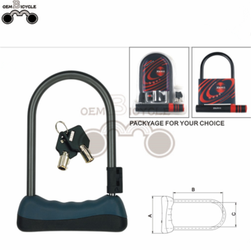 Bicycle Bike U Lock Shackle 2 Keys Security