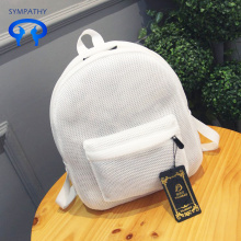 Translucent mesh backpack light girl mesh travel backpack