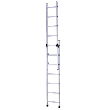 Two section extension aluminum ladder