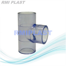 Clear PVC Pipe Fitting Equal Tee SCH80